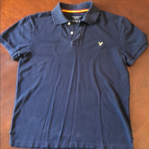 6a208986565 American Eagle Outfitters Shirts | Navy Eagle Polo Size Sp | Poshmark